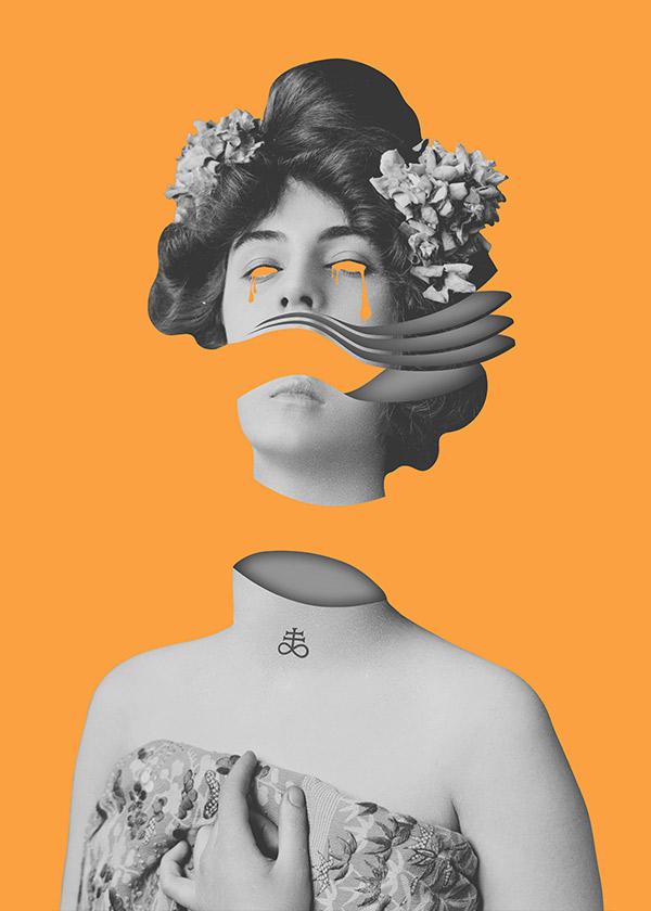 Digital Collage / Portrait of Purity II