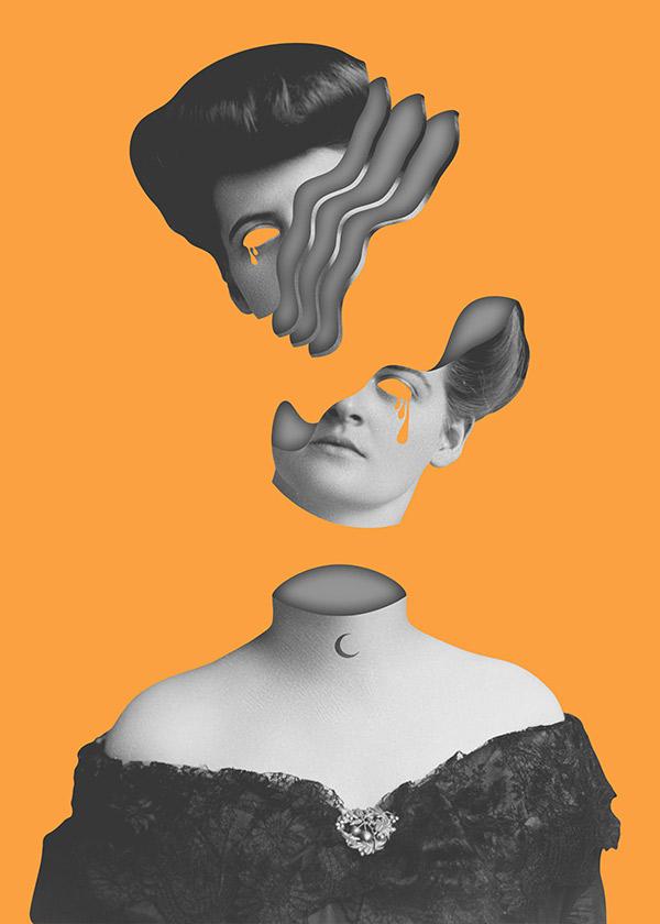 Digital Collage / Portrait of Purity III