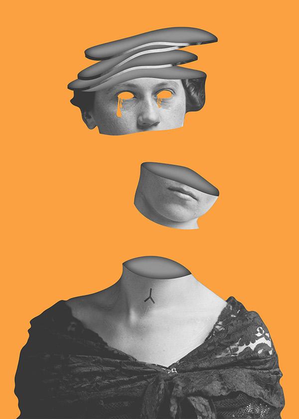 Digital Collage / Portrait of Purity V