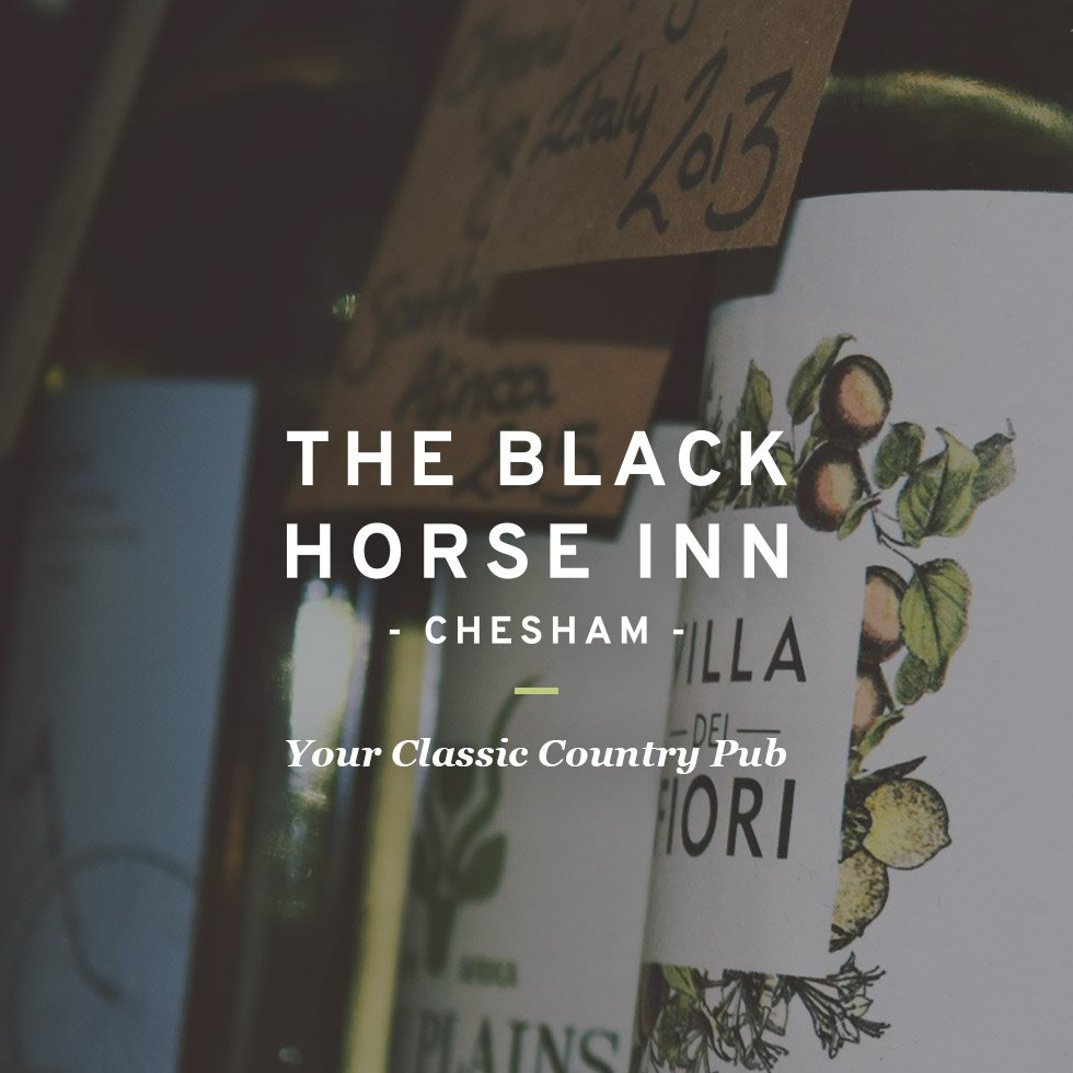 The Black Horse Inn / Brand Identity & Web Design Services by London based graphic designer Wolves of Suburbia / Steve Reynolds