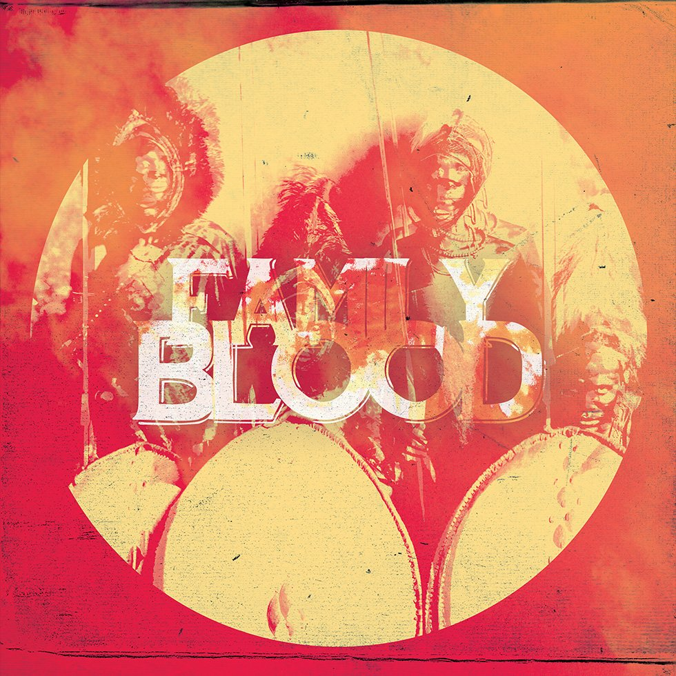 "Family Blood / 7"" Vinyl Cover Artwork by London based graphic designer Wolves of Suburbia / Steve Reynolds"