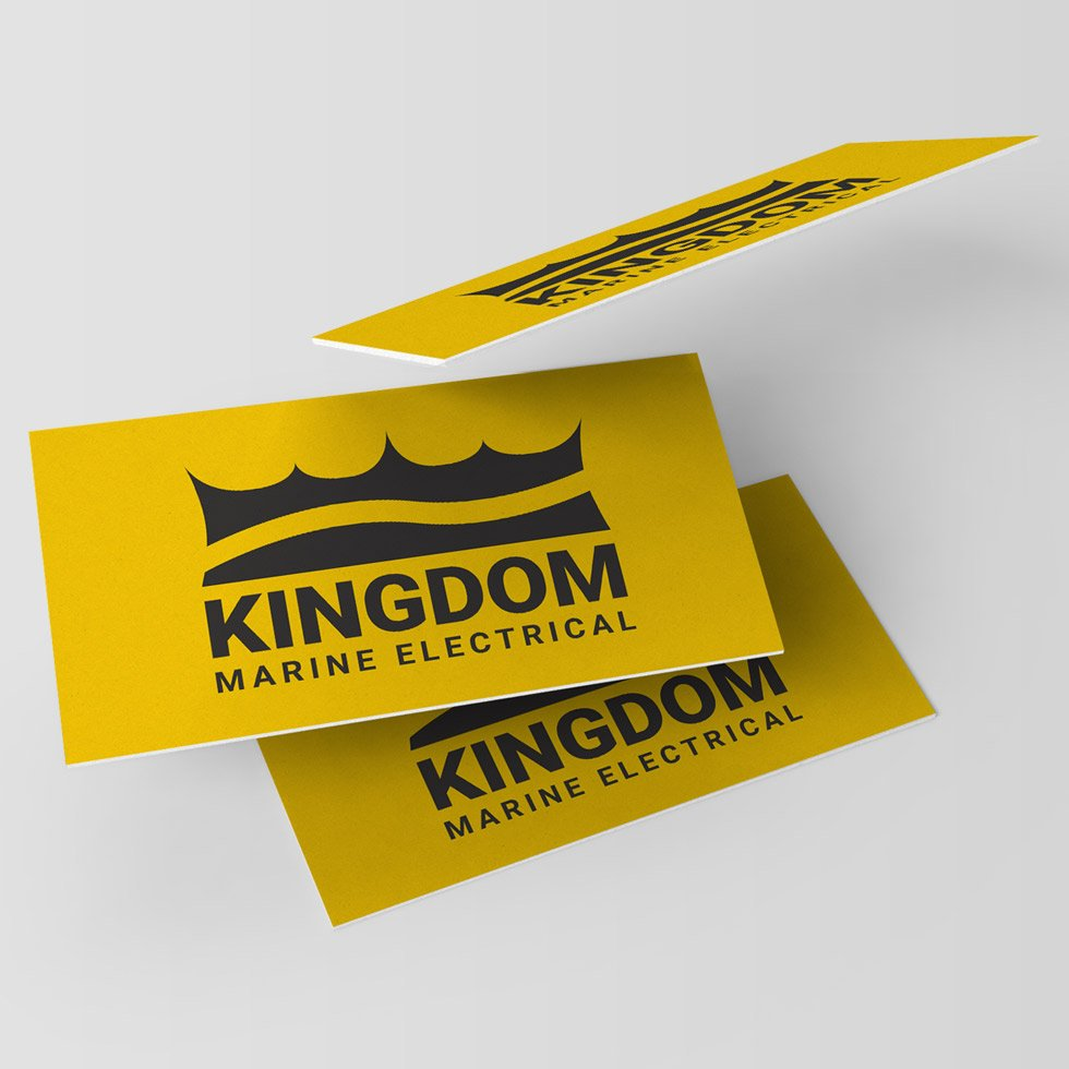 Kingdom Marine Electrical / Visual Identity & Web Design Services by London based graphic designer Wolves of Suburbia / Steve Reynolds