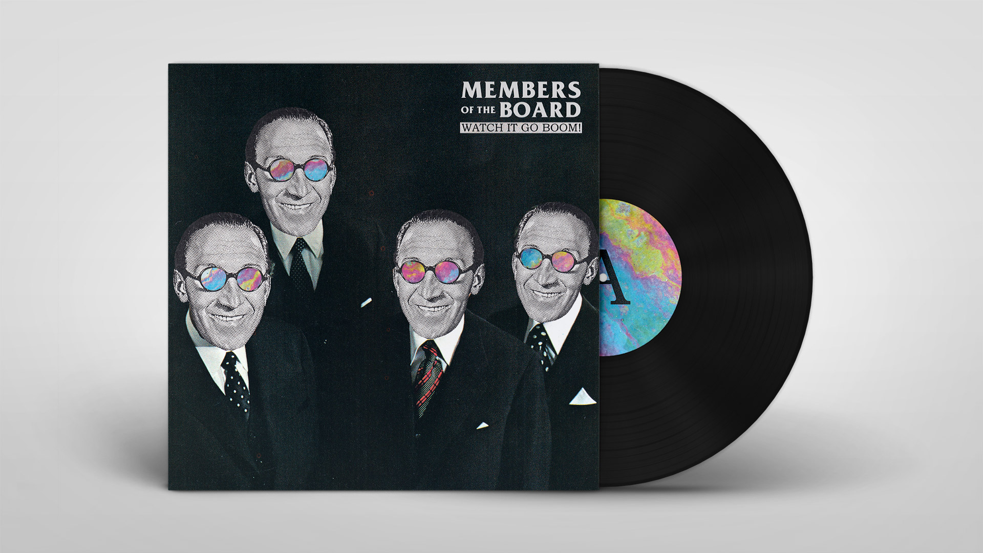 LP cover artwork for Members of the Board
