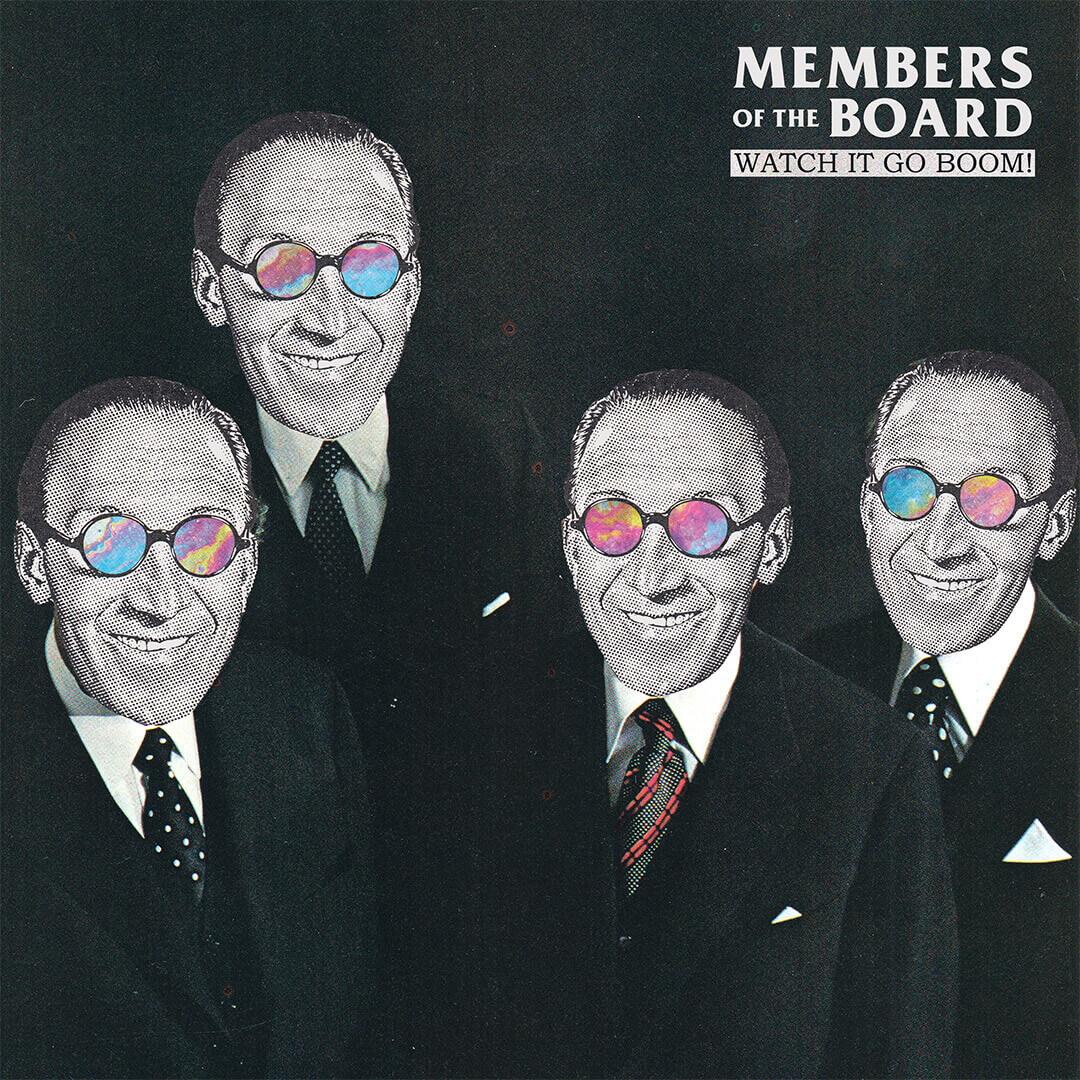LP cover artwork for Members of the Board / Front